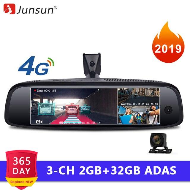 Junsun специальный кронштейн Авто DashCam камера 2 + 32 ГБ видеокамера на ОС андроид для автомобиля ADAS 4 г зеркало заднего вида FHD 1080 P для Uber такси 2019 Новый