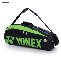 Double deck Racquet Sport Tennis Bag Professional 6 Pcs Pattern Tennis Racket Bag PU Badminton Racquet Backpack Raquette Design