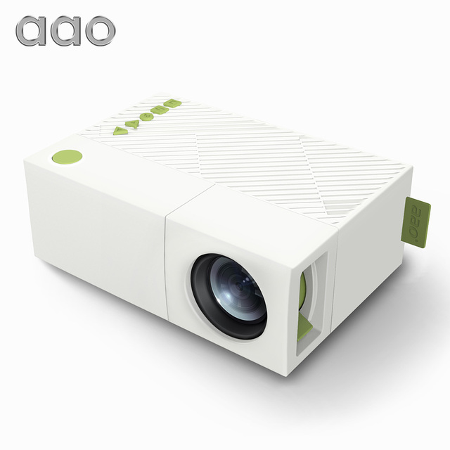 Special Price AAO YG300 Mini Portable LED Projector For Home Theater Game YG-300 YG310 Beamer Player Support 1080P SD HDMI USB Children Gift