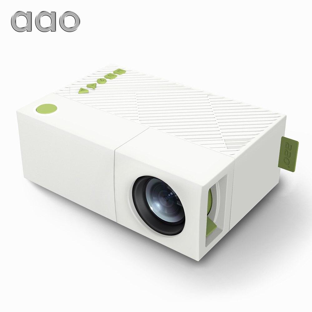 AAO YG300 Mini proyector portátil LED para el teatro casero del juego YG-300 YG310 Beamer soporte 1080 p SD HDMI USB regalo de los niños