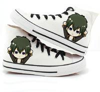 High-Q Unisex Gintama Sakata Gintoki Canvas shoe Hand-painted shoes Casual Student rope soled shoes