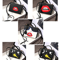 Genuine Leather personalized fashion sexy red lips Face moon stars mini box ladies handbag shoulder bag totes messenger bag flap