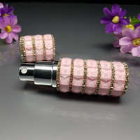 NEW 1pcs 10ml Cylinder Vintage Crystal Style Refillable Perfume Atomizer Spray Bottle Luxe Glass Bottles For
