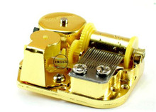 High Standard Hot Sale Unique DIY Mechanical Musical Box Golden Movement+Screws