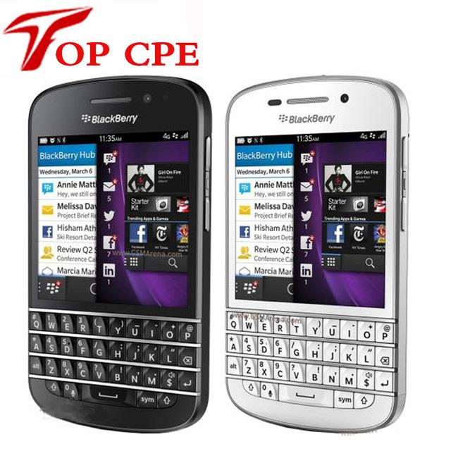 Venta caliente 100% original blackberry q10 teléfono 3g 4g red móvil 8.0mp dual-core de 1.5 ghz 2g ram + 16g rom envío gratis