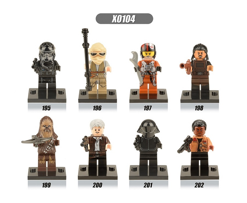 Single Sale Star Wars The Force Awakens Chewbacca Kylo Ren Han Solo Super Heroes Building Blocks Bricks Toys for children X0104 lecgos building blocks super heroes star wars x wing fighter millennium falcon the force awakens compatible with lecgos