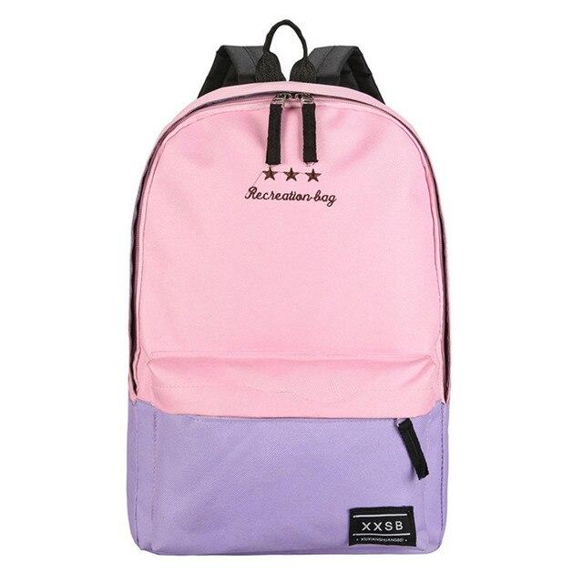 0cb968c871f3 Модный школьный рюкзак Для женщин детей школьный рюкзак для отдыха корейские  женские рюкзак для ноутбука Дорожные