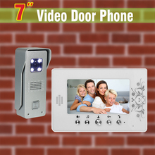 7 inch LCD Screen Video Door Phone Intercom System Aluminum Alloy Camera Video Doorbell Intercom Video Door bell 1V1