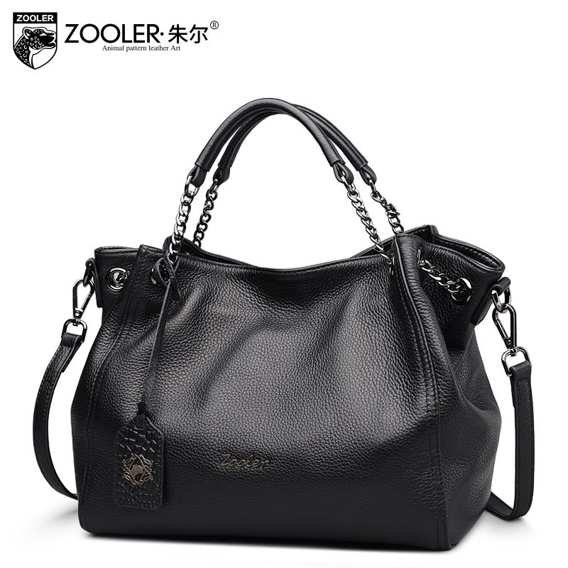 Luxury leather tote ZOOLER 2017 genuine leather women shoulder bags handbag wome