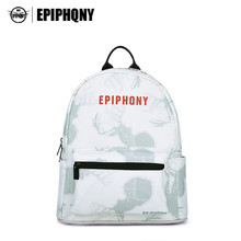 Epiphqny известный бренд Рюкзаки животных печати Bagpack Для женщин Дорожная сумка из искусственной кожи Обувь для девочек Колледж студент backbag Малый