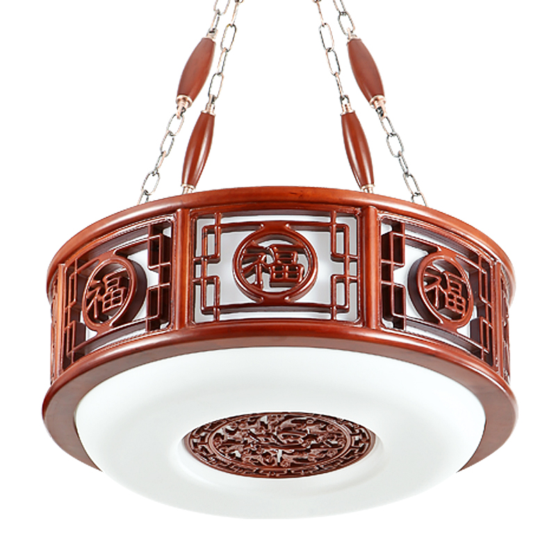 Modern Chinese wind retro wooden pendant light LED simple solid wood carved restaurant hotel lighting pendant lamps LU622 ZL131 chinese style wooden pendant lamps bedroom pendant light wooden sheepskin pendant light restaurant lamp lighting zs83