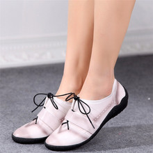 womens flats summer shoes genuine leather Driving shoes woman casual outdoor shoes