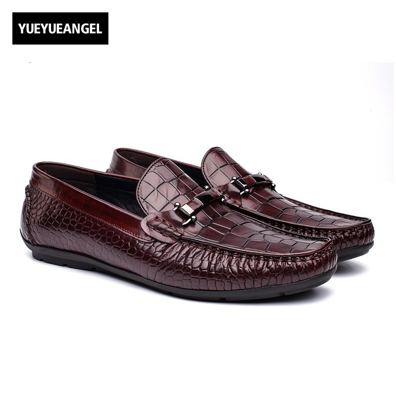 New Men Fashion Drees Shoes Genuine Leather Slip On Breathable Metal Decoration For Men Wedding Business Shoes Free Shipping Red new men fashion drees shoes genuine