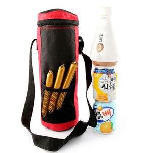 Image 3 - 2 szt. Cylinder torba termiczna izolowane napoje wodne butelki/puszki torba do przenoszenia lodówka turystyczna pojemnik na żywność czerwony + niebieski