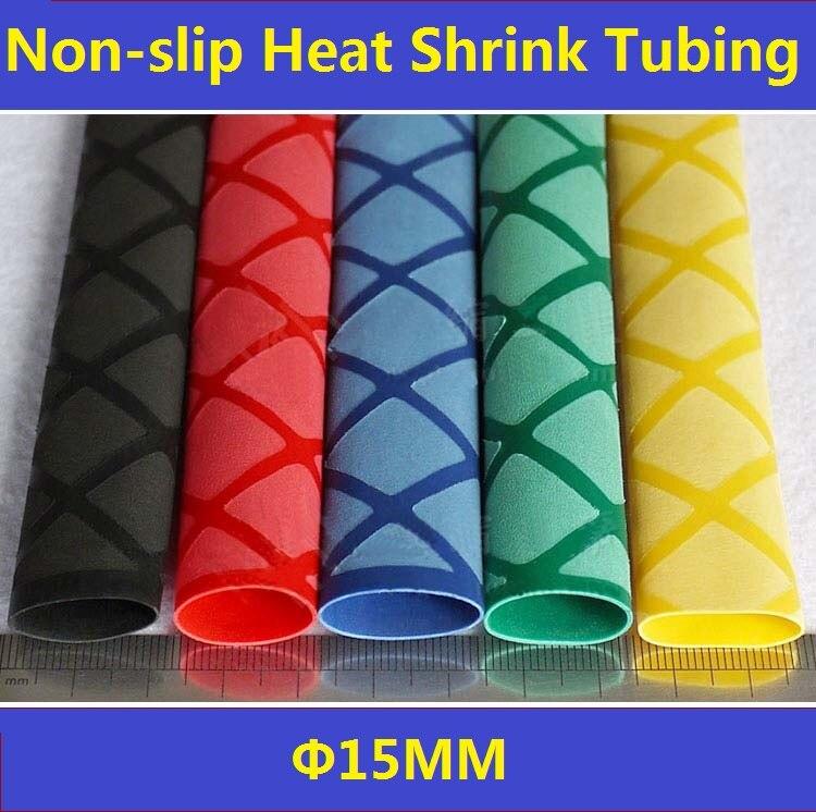 15mm  Non-slip Textured Heat Shrink Tubing Fishing Rod Handle Grip ROHS SONY- 1 Meter retardant heat shrink tubing shrinkable tube diameter cables 120 roll sale