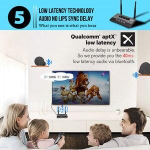 Image 5 - 3 trong 1 Tầm xa Bluetooth 5.0 Thiết Bị Thu Phát NFC có Âm Thanh APTX LL Quang Học HD 3.5mm RA 2 ĐẦU RCA AUX cho TV/Âm Thanh Nổi Tại Nhà