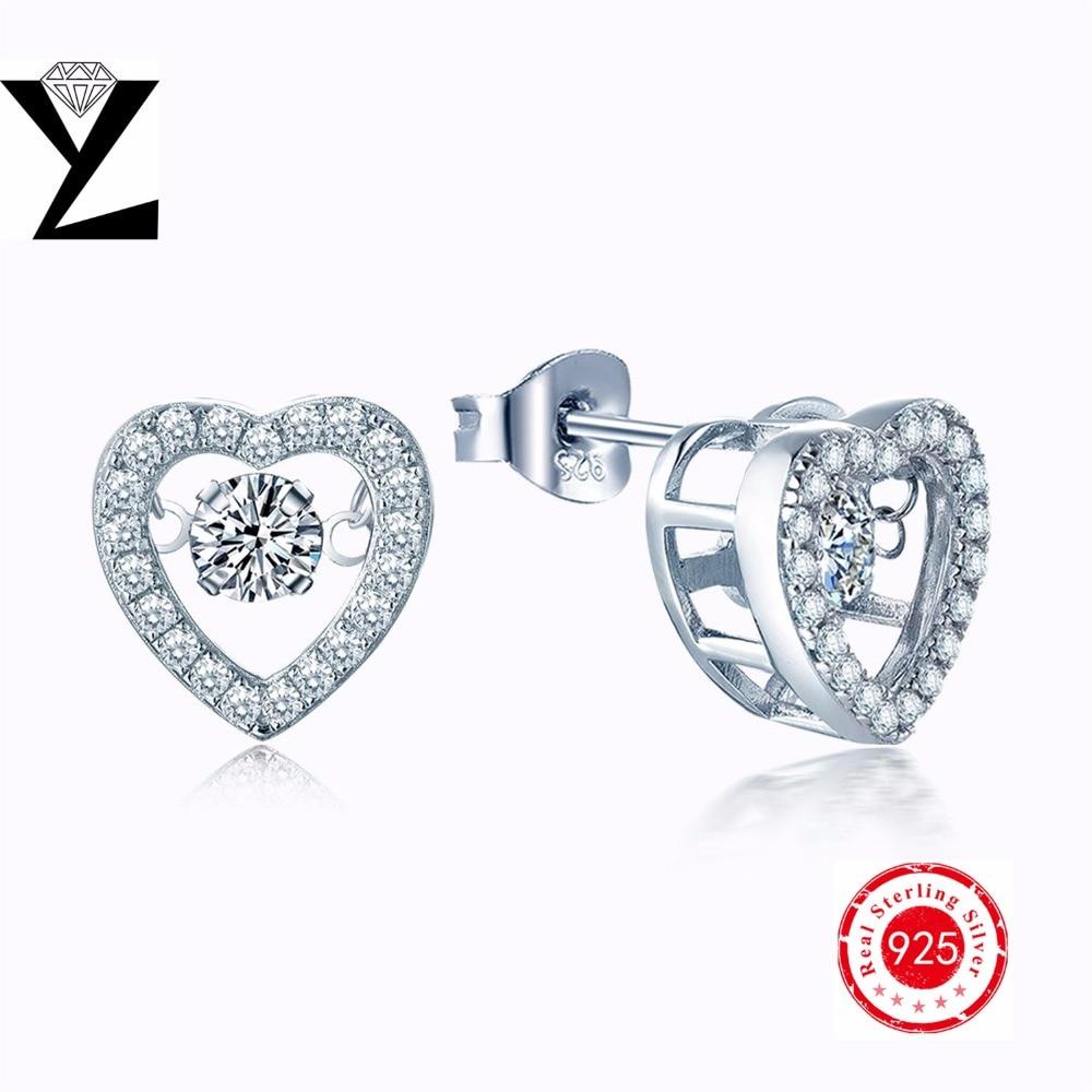 Sterling Silver Jewelry 925 Earrings Dancing Cz