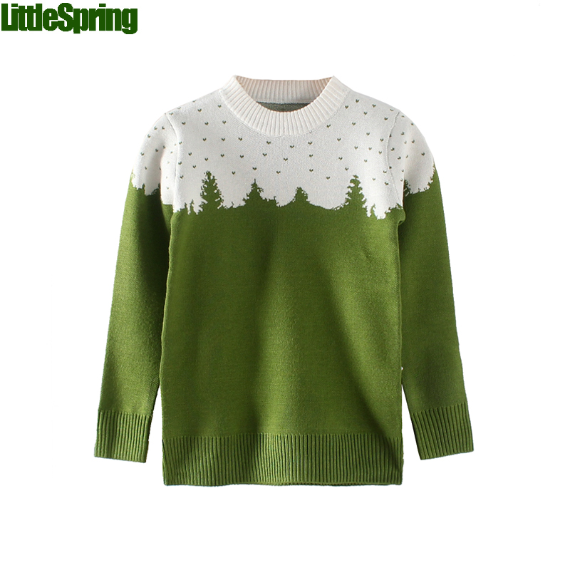 Boys Forest Patchwork Cotton Sweater children christmas sweaters kids boys  christmas sweater kids sweaters boys(