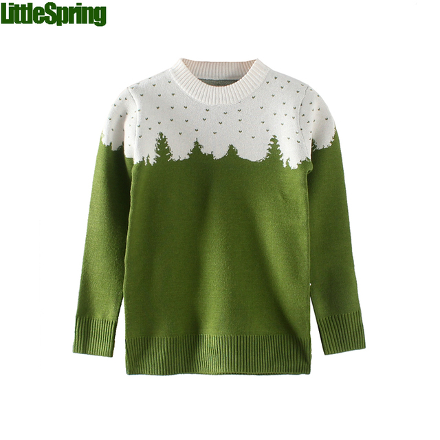 Boys Forest Patchwork Cotton Sweater children christmas sweaters kids boys christmas sweater kids sweaters boys