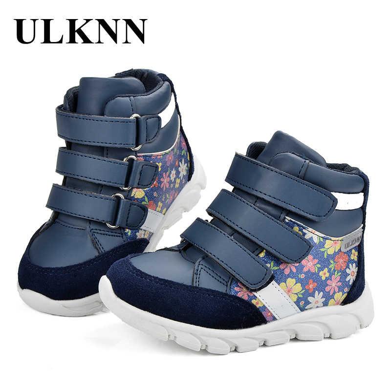 ULKNN ילדים סניקרס בנות נעליים יומיומיות מותג ילדי אמיתי עור רך בד הדפסת חיצוני נעל נעל אופנה Confortable
