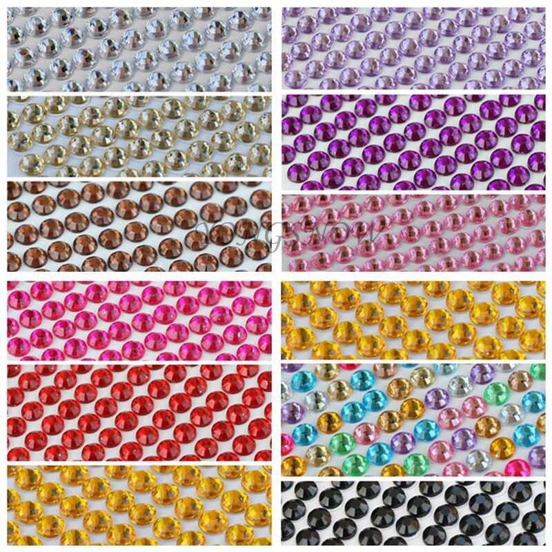 900Pcs set 4MM Flat Back Acrylic Rhinestones Apparel Sewing Fabric Nail Art  DIY Phone Case Decor Arts Crafts Gifts Supplies 6Z 04057e728ab6