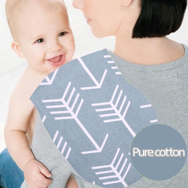 4pcs Three Layers Cartoon Print Baby Feeding Bibs Nursing Burping Towels Burp Cloths