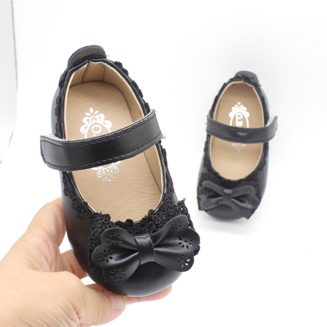 Flower Children Girls Toddler Baby Little Bowknot Leather Shoes For Girls Party Wedding Dress Shoes New 1 2 3 4 5 6 7 8 Years