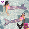 Kids Mermaid Tail Cosplay Costume Girls Christmas Mermaid Tails for Swimming Cosplay Set Bathing Swimming Mermaid Tail+Monofin