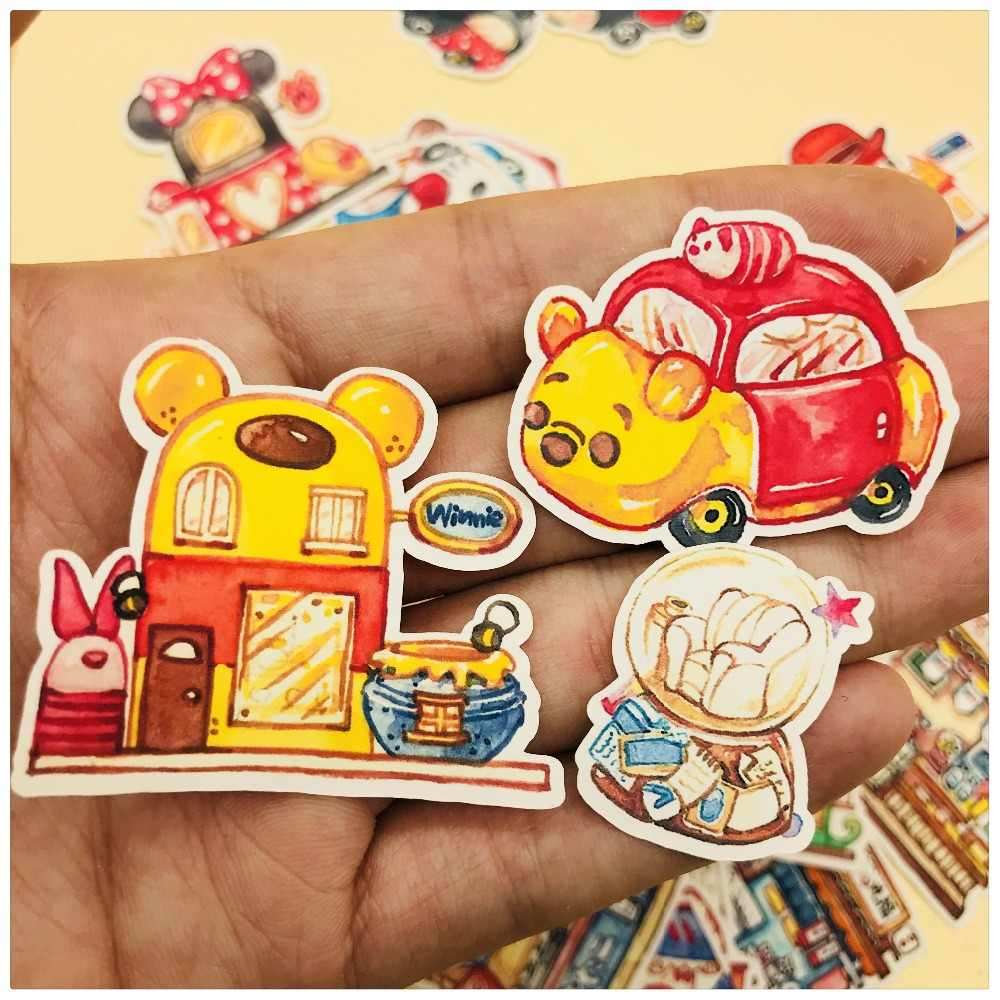 35 Pcs Gambar Tangan Mickey Permen House Stiker Scrapbooking Dekoratif Buku Pegangan Manis House Stiker Planner DIY Foto Alat Tulis