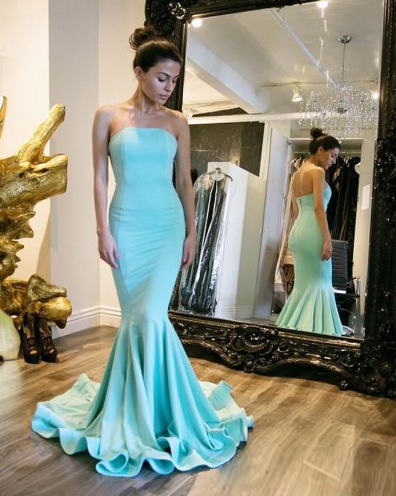 Compare Prices on Light Blue Mermaid Prom Dress- Online Shopping ...