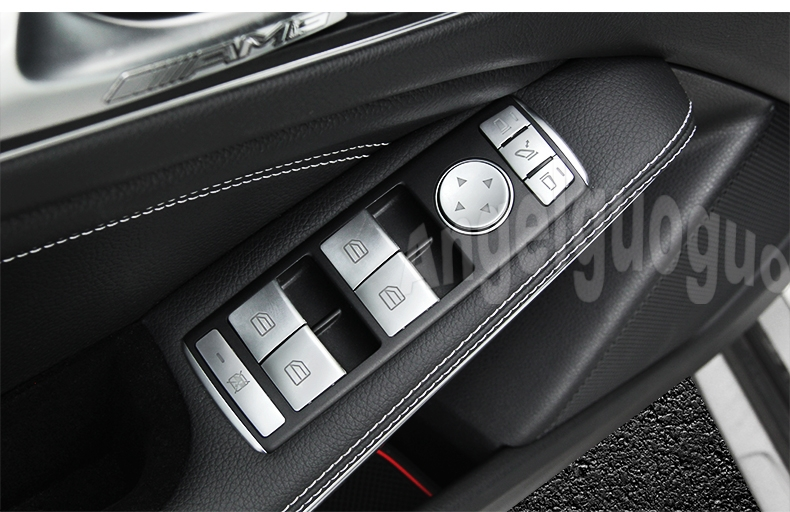 Car window glass lift button trim cover sticker for for Mercedes benz window sticker