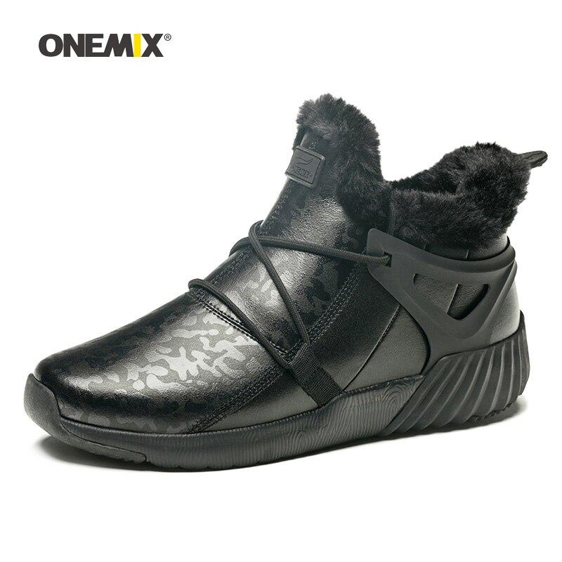 Hommes chaussures de randonnée femmes hiver chaud imperméable Trekking bottes noir confortable sport escalade montagne en plein air marche baskets - 2