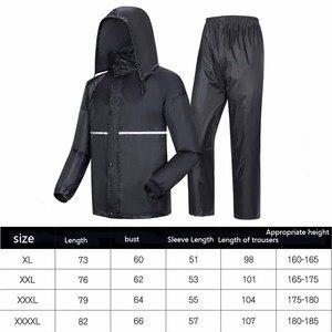 Image 2 - Thick double raincoat split suit cross border direct rain pants adult reflective bicycle electric motorcycle riding waterproof