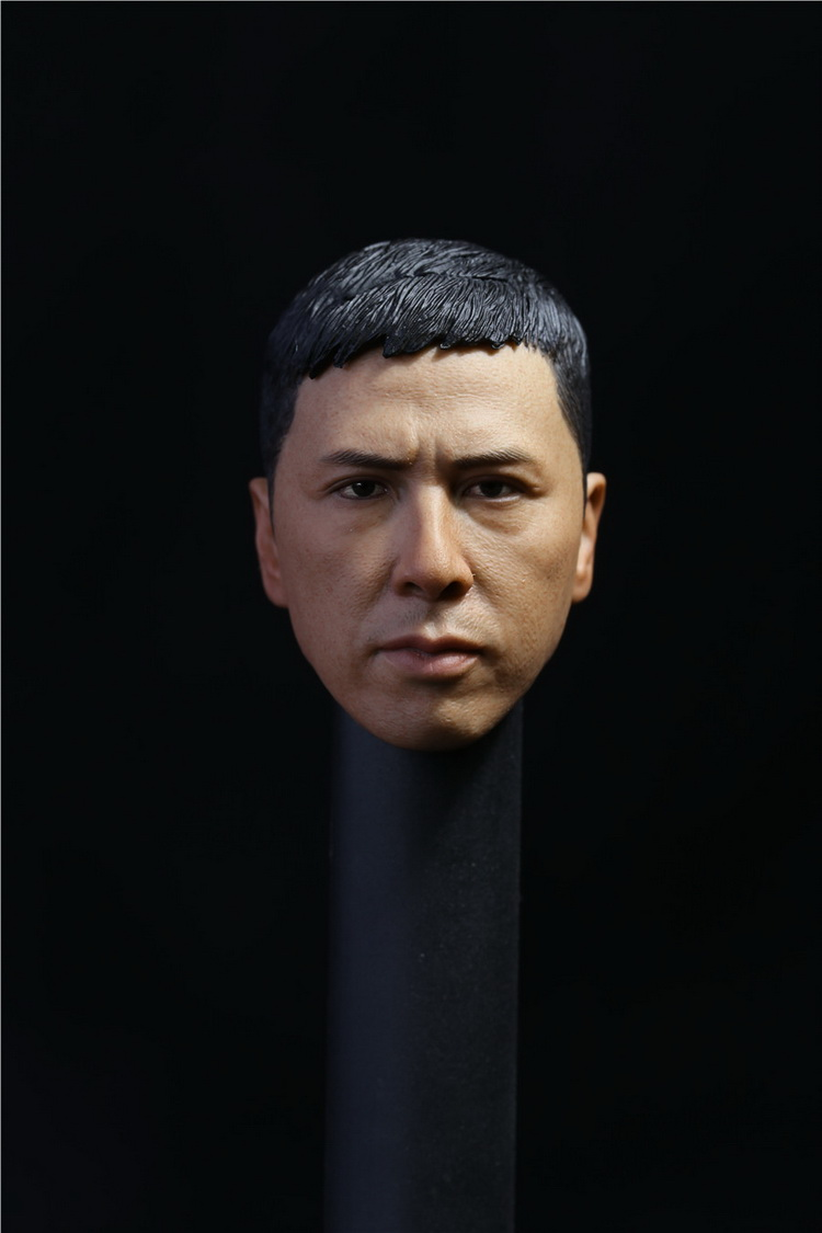 1/6 scale Toy Head Sculpt Donnie Yen Yip Man 3 Fit 12 Hottoy figure toys in stock image