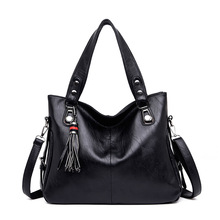 купить 2019 New Fashion Women Handbag Brand Luxury Leather Big Tote Bags for Women Large Capacity Shoulder Bag Sac A Main Femme по цене 1334.54 рублей