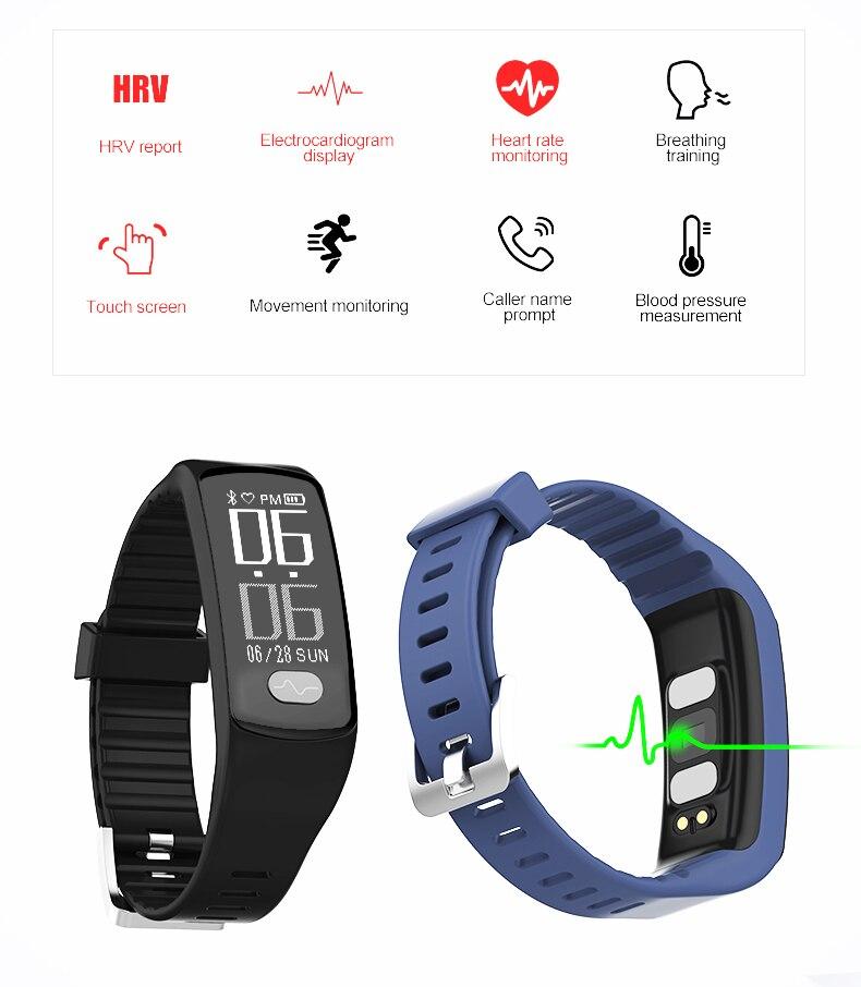 NR51822 Bluetooth EKG + PPG Herzfrequenz Smart Armband Frauen Männer - Intelligente Elektronik