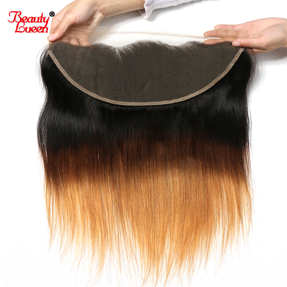 13x4 Ear To Ear Brazilian Straight Pre Plucked Lace Frontal Closure Ombre T1B 4 30 Non