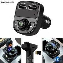 Супер Bluetooth автомобильный комплект для громкой связи fm-передатчик MP3 музыкальный плеер 5 в 4.1A двойной зарядное устройство usb Поддержка Micro SD карты 1G-32G
