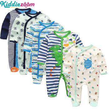 3/4/5Pcs/set Super Soft Cotton Baby Unisex Rompers Overalls Newborn Clothes Long Sleeve Roupas de bebe Infantis Boy clothing Set 1
