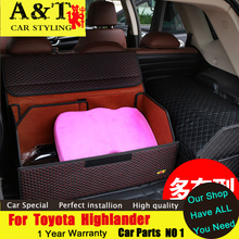 A&T car styling For Toyota Highlander Rear Racks kluger folding storage box car trunk Trunk storage bag
