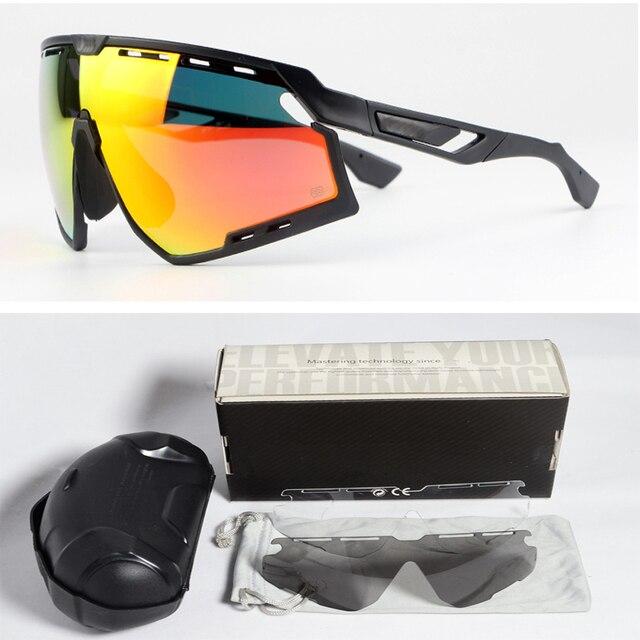 ba5e058215 3 lente gafas polarizadas de Ciclismo bicicleta MTB las mujeres los hombres  100 fotosensibles deporte sol
