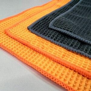Image 5 - Высокое качество, полотенце для мытья автомобиля, сильные салфетки из микрофибры для очистки окон, автодетализация, вафельная ткань для кухонной ванны, 40*40 см, оптовая продажа