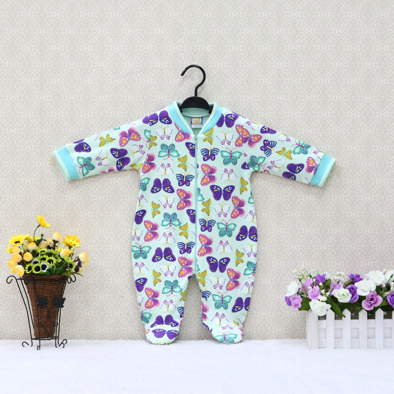 Baby Pure Cotton Long Sleeve   Rompers   Zipper O Neck Toddler Suits Boys and Girls Clothes 2019 Little Q Clothing christmas
