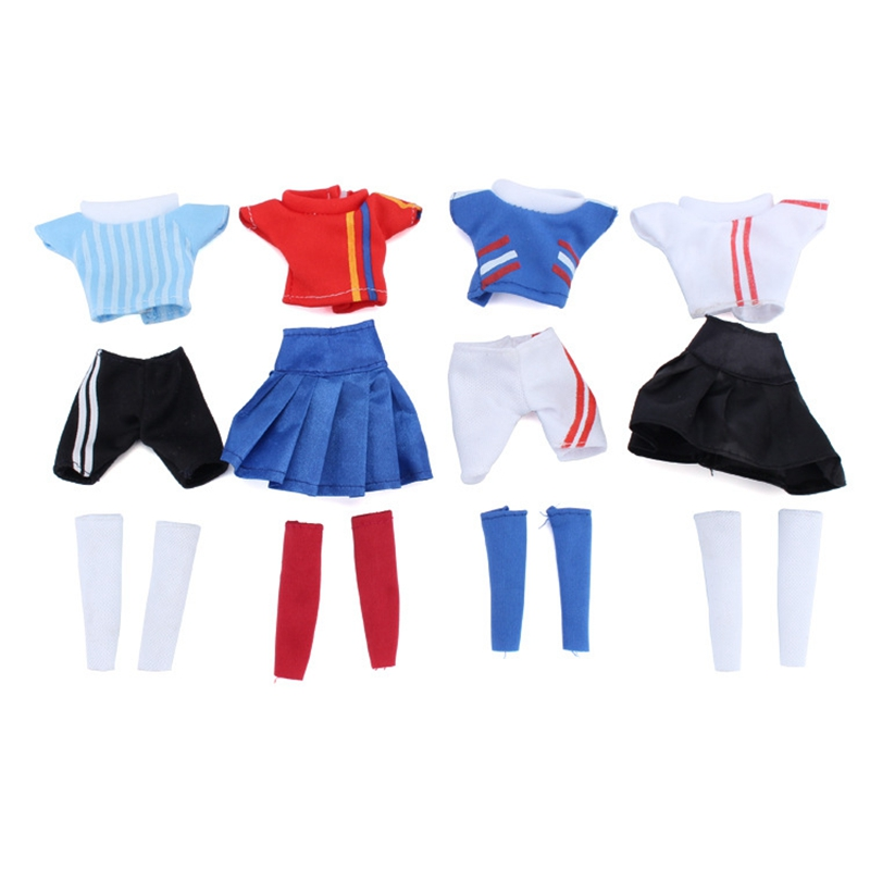 Handmade Casual Football Girl Doll Clothes Sports Girl Clothes for Dolls Football Baby Sport Suits Barbies Clothes Accessories (5)