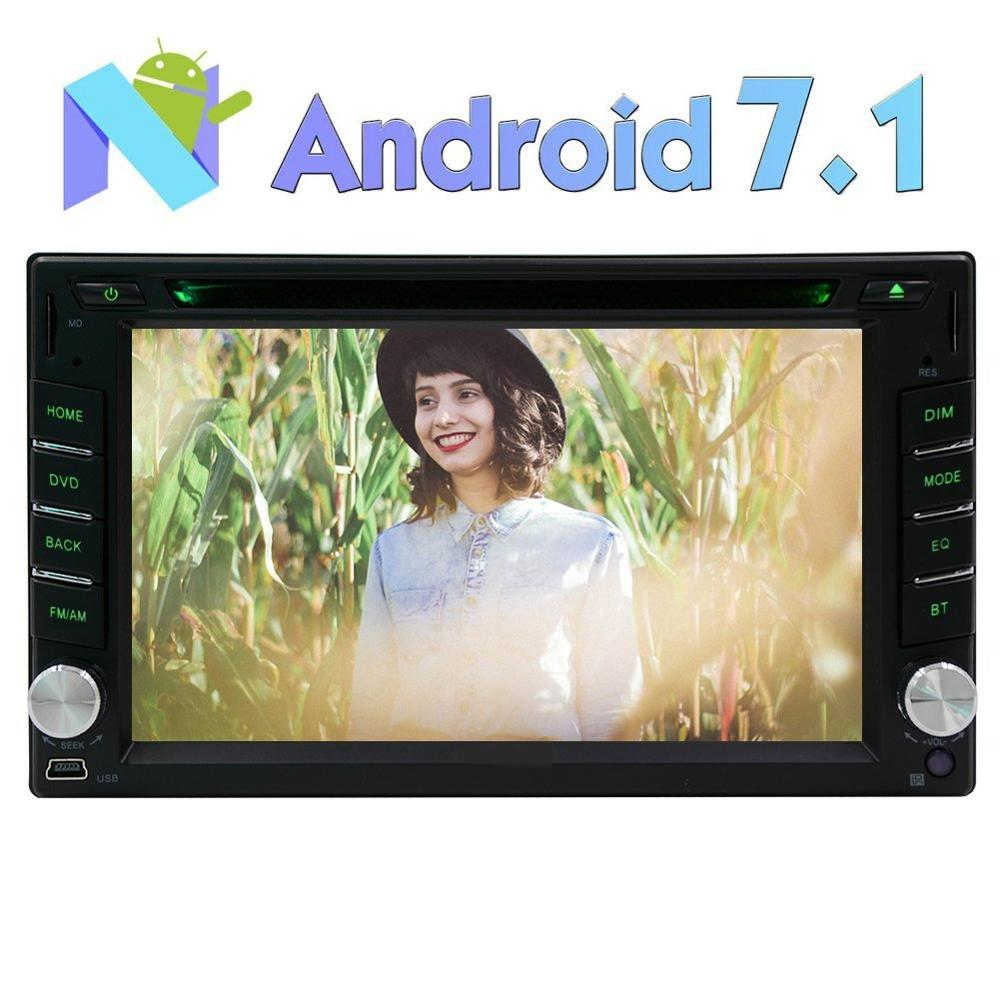 2 Din Android 7.1Car DVD Player Stereo GPS Navigation Radio Receiver Support 1080P Video/WiFi/Mirrorlink/OBD2/SW Control/DAB+