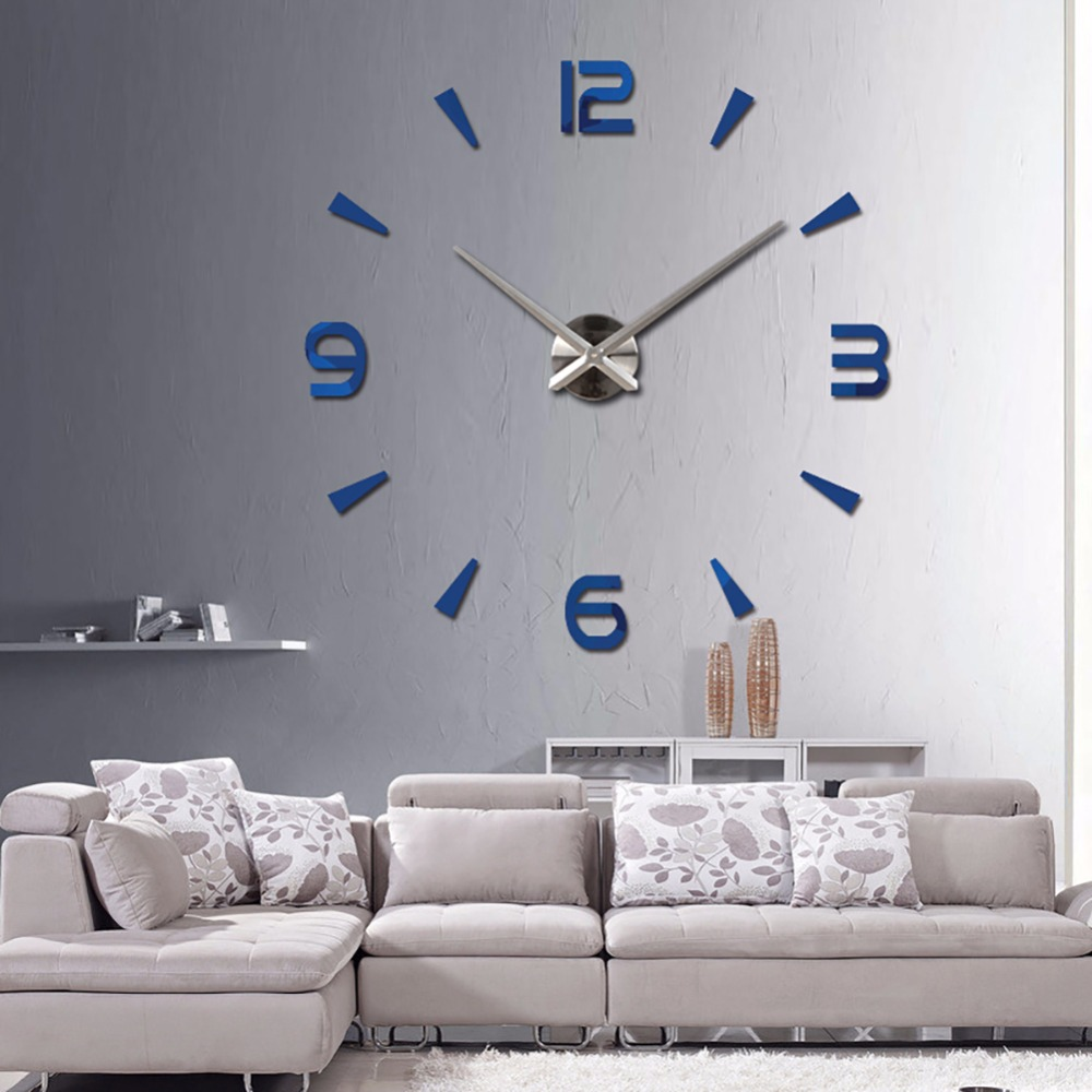 2017 New Vintage 3d Wall Clock Living Room Diy Acrylic Mirror Clocks Quartz  Watch Stickers In Wall Clocks From Home U0026 Garden On Aliexpress.com |  Alibaba ...