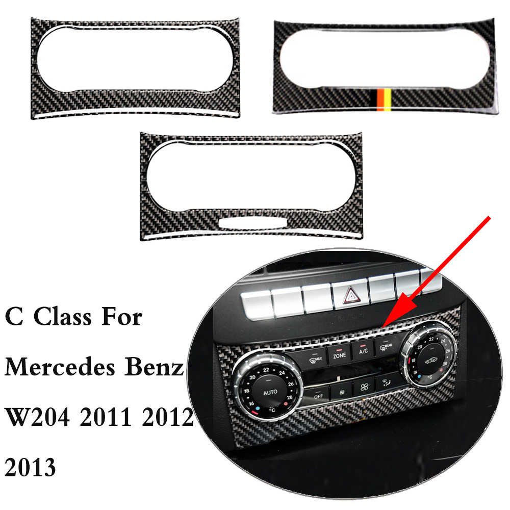 C Class W204 Carbon Fiber Air Conditioning Outlet control car interior For mercedes Benz W204 2011 2012 2013 Car Styling