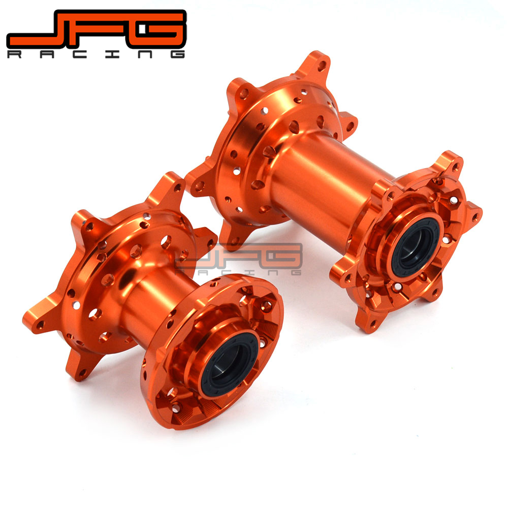 Billet Orange Front And Rear Complete Wheel Hub For KTM EXC SX SXF XCW EXC-F EXCF 125 250 350 450 525 530 2003-2017
