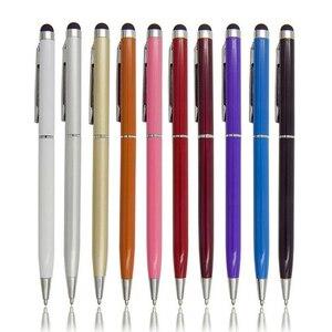 Image 5 - 20 pz/lotto 2in1 schermo di Tocco Dello Stilo Penna + Penna A Sfera per iPad iPhone Smartphone Tablet colori di radom