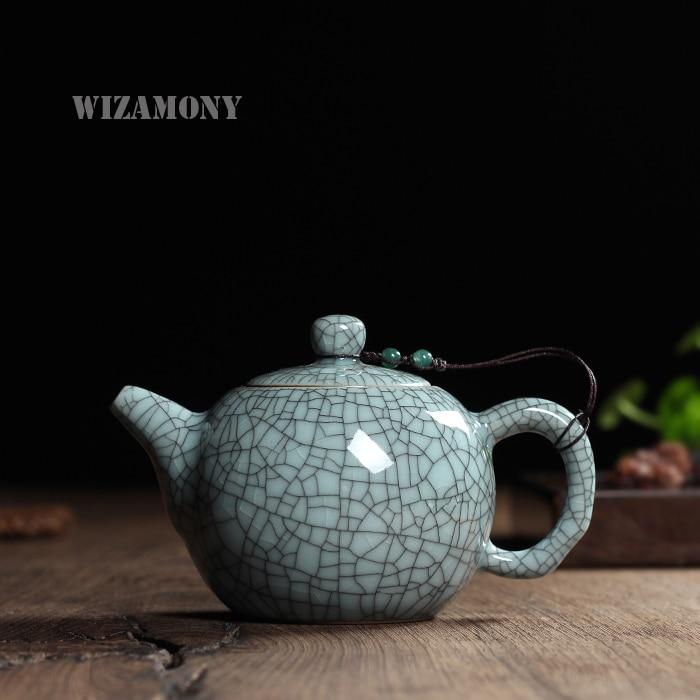 240ml Hot Sale Crackle Glaze Եղբայր Kiln Longquan Celadon Zisha Ceramics Arts TayShi Pot Porենապակի ճարմանդ